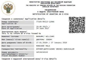 Электронная виза в Россию для иностранцев с 2021 года